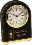 Black Leatherette Arch Desk Clock Arch Awards