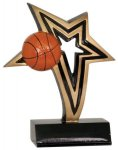 Basketball Infinity Star Resin Basketball Trophy Awards