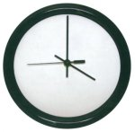 Round Clock with Black Frame Circle Awards