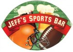 Football Shaped Hardboard Coaster Football Trophy Awards