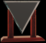 Diamond Triangle Clear Glass Award Triangle Awards